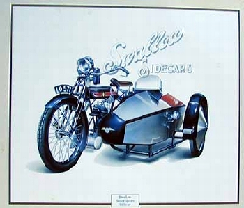 Swallow Super Sports Seitenwagen, Jaguar Original Poster 1986