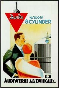 Audi 8-zylinder Werbung 1928