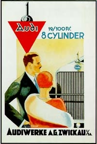 Audi 8-zylinder Advertisement 1928
