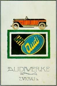 Audi Werbung 1921 Automobile Car
