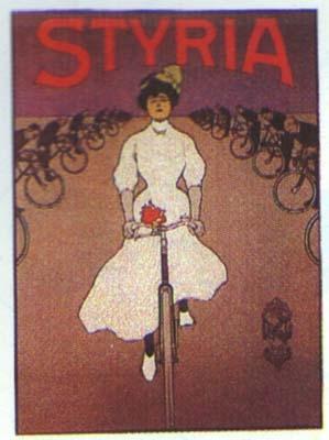 Klassische Werbung Fahrrad Styria