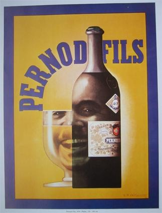 Klassische Werbung Pernond Fils Advertisement