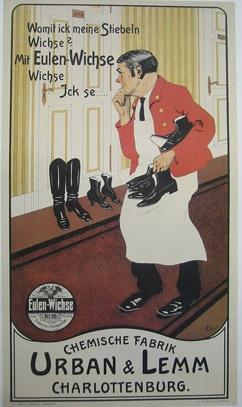 Klassische Werbung Werbeplakat Für Schuwichse