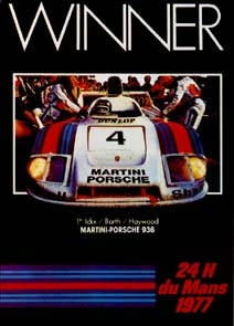 24h Le Mans 1977 - Porsche Reprint - Kleinposter