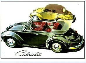 Vw Volkswagen Käfer Cabriolet Werbung
