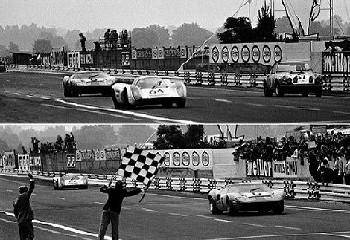 24 Stunden Von Le Mans. Ickx /oliver Im Ford Gt 40 Und Herrmann/larrousse Im Porsche 908.