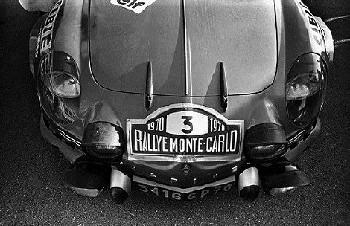 Vinatier/jacob, Alpine A110. Rallye Monte-carlo 1970
