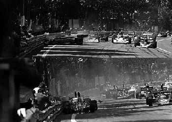 Lauda Im Ferrari 312t, Regazzoni Im Ferrari 312t Und Andretti Im Parnelli Vpj4 Ford, Grand Prix Span