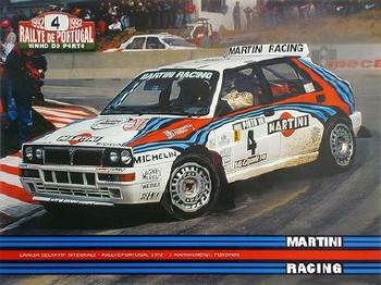 Original Rennposter Rallye Portugal 1992 Lancia Delta Integrale
