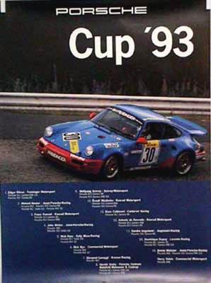 Porsche Original Racing Poster 1993 - Porsche Cup - Good Condition