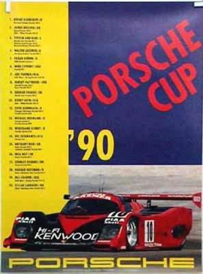 Porsche Original Rennposter 1990 - Porsche Cup - Gut Erhalten
