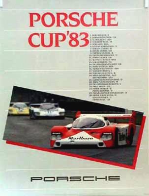 Porsche Original Racing Poster 1983 - Porsche Cup - Good Condition