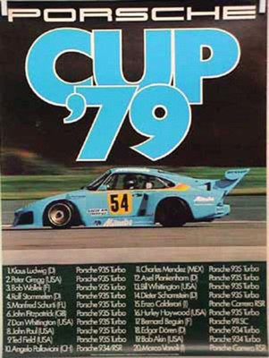 Porsche Original Rennplakat 1979 - Porsche Cup - Gut Erhalten