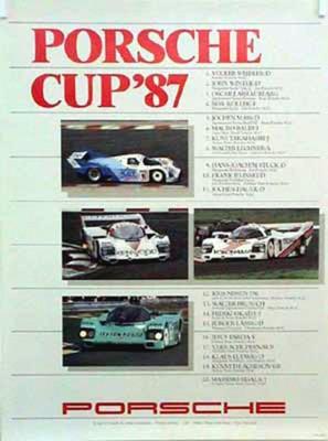 Porsche Original Rennplakat 1987 - Porsche Cup - Gut Erhalten