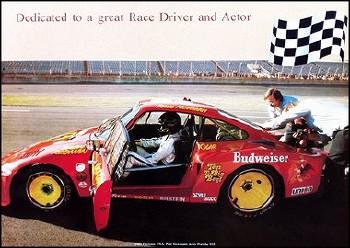 1981 Paul Newman Im Porsche - Porsche Reprint