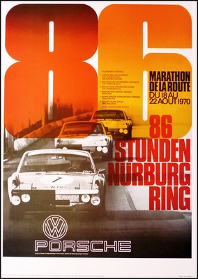 86 Hours Nurburgring 1970 - Porsche Reprint