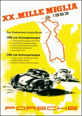 Xx. Mille Miglia 1953 - Porsche Reprint