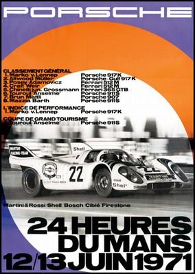 24 Stunden Von Le Mans 1971 - Porsche Reprint