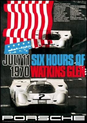 6 Hours Of Watkins Glen 1971 - Porsche Reprint