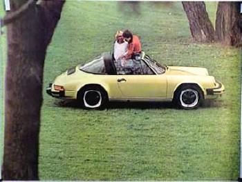 Porsche Original Werbeplakat 1975 - Porsche 911 Targa - Gut Erhalten