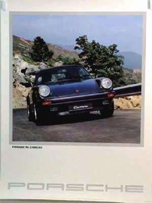Porsche Original Werbeplakat 1985 - 911 Carrera - Gut Erhalten