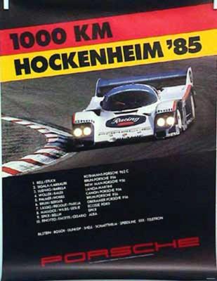 Porsche Original 1985 - 1000 Km Hockenheim - Gut Erhalten