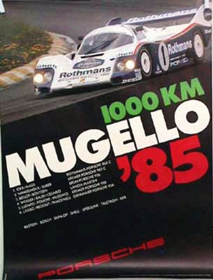 Porsche Original 1985 - 1000 Km Mugello - Gut Erhalten