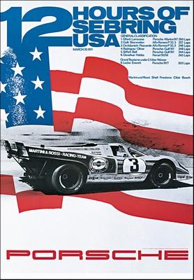 12 Stunden Von Sebring 1971 - Porsche Reprint