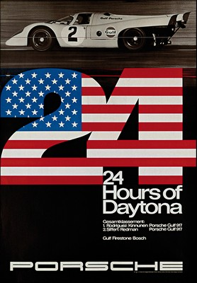 24 Hours Of Daytona 1970 - Porsche Reprint Poster