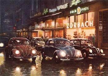 Vw Volkswagen Käfer Nachtleben Werbung