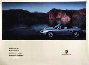 Porsche Original Werbeplakat - Porsche Boxster - Mint