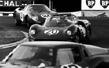 Le Mans Gp 1965 - Guichet/parkes Ferrari 33op2 Und Rindt/gregory Ferrari 250lm
