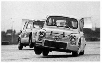 Toine Hezemans Mit Abarth 1000tc In Wien-aspern