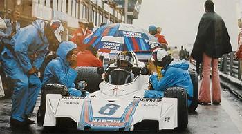Martini Original Poster Großer Preis Niederlande 1975 - Carlos Pace Im Brabham-ford Cosworth