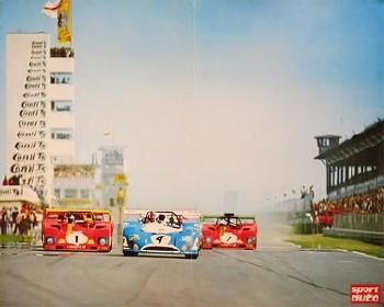 Sport Auto Original 1973 Interserie Nürburgring - Regazzoni/ickx Merzario/pace