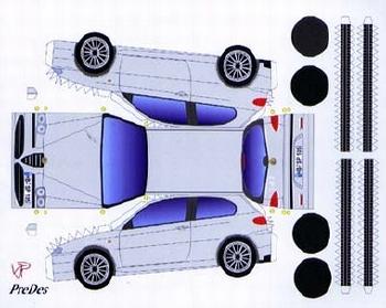 Bastelpostkarte Alfa Romeo 147