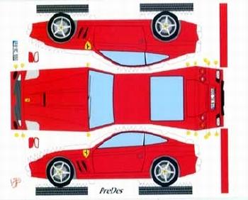 Bastelpostkarte Ferrari 550 Maranello Designed