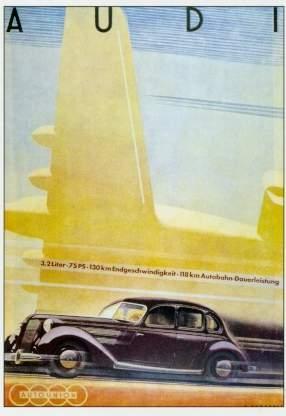Audi Werbung 1938 Automobile Car