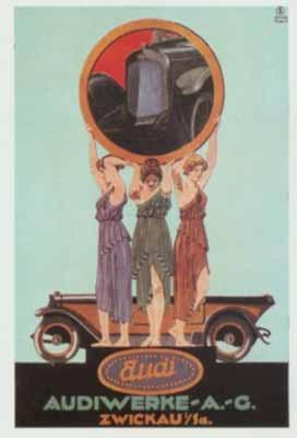 Audi Werbung Um 1919 Automobile