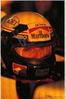 Alain Prost Im Mac Laren - Postkarte Reprint