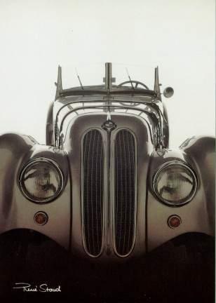 Bmw 328 Automobile Car Postcards - Postkarte Reprint