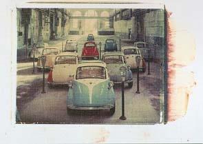 Bmw Isetta 1955-1962 Automobile Car - Postcard Reprint