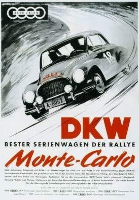 Dkw 3=6 Rennen Plakat 1955