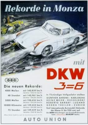 Dkw 3=6 Race Advertisement 1955