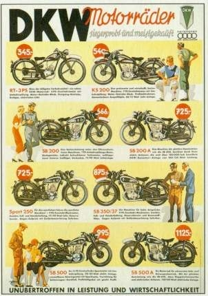 Dkw Motorrad Werbung 1939 Audi
