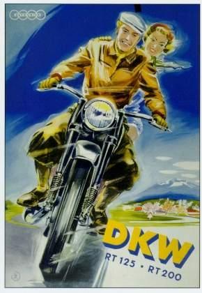 Dkw Motorrad Werbung 1952 Audi
