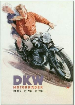 Dkw Bicycle Advertisement 1952 Audi