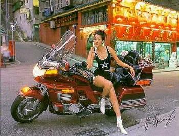 Honda Goldwing At Hollywood Road - Postcard Reprint