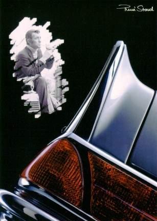 Jean-claude Pascal Drove In Mercedes - Postcard Reprint