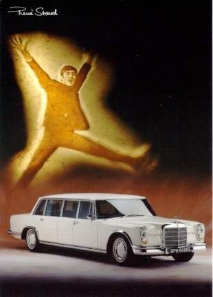 John Lennon Fuhr Im Mercedes Benz - Postkarte Reprint